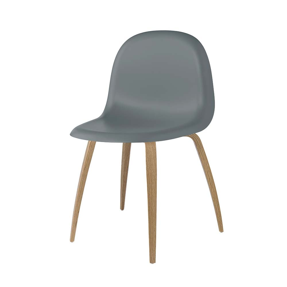 Gubi 3D Stuhl, Oak Rainy Grey