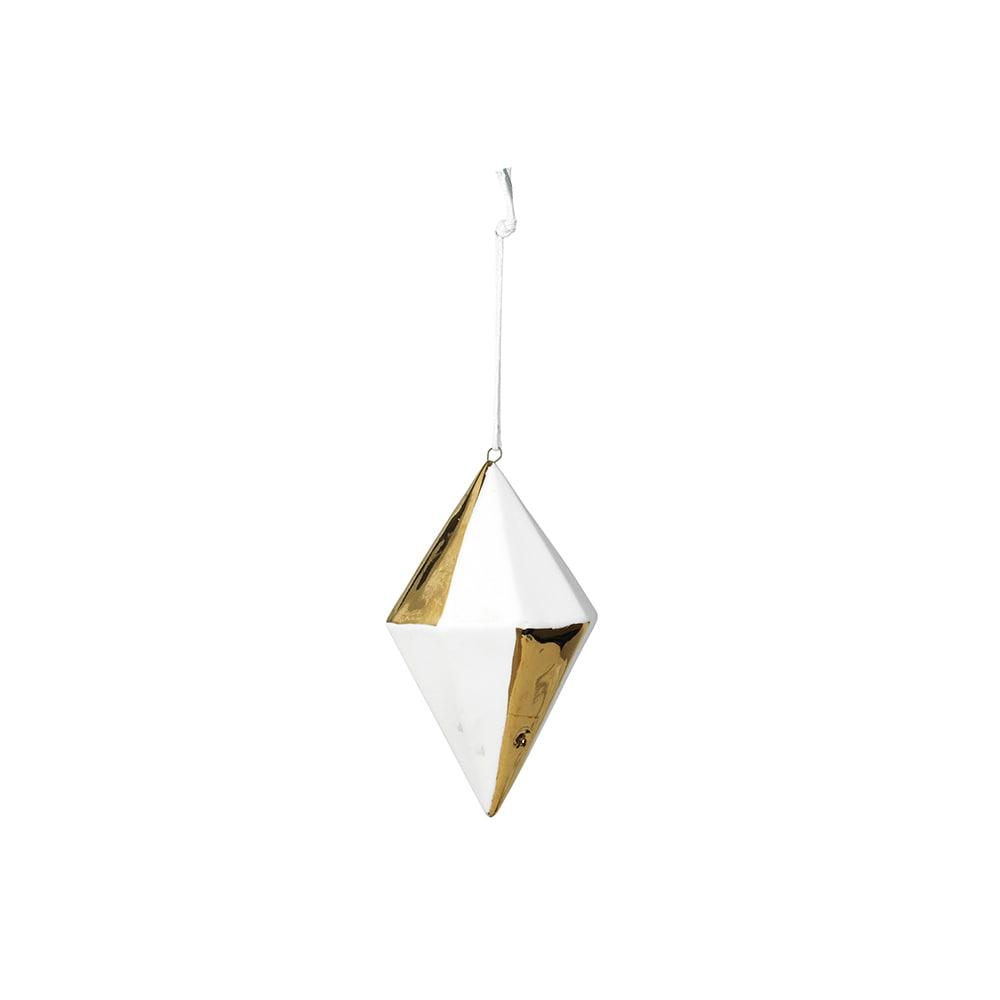 Asaf Weihnachtsdeko Diamond Weiss Gold Broste Copenhagen