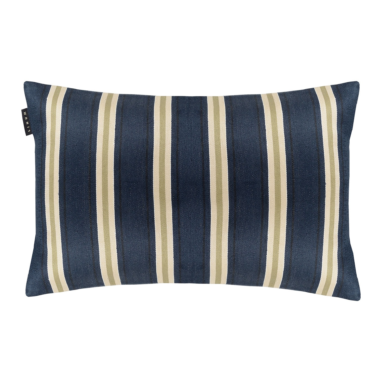 Lucca Kissenbezug 40x60cm Dark Grey Blue Linum Royaldesign De