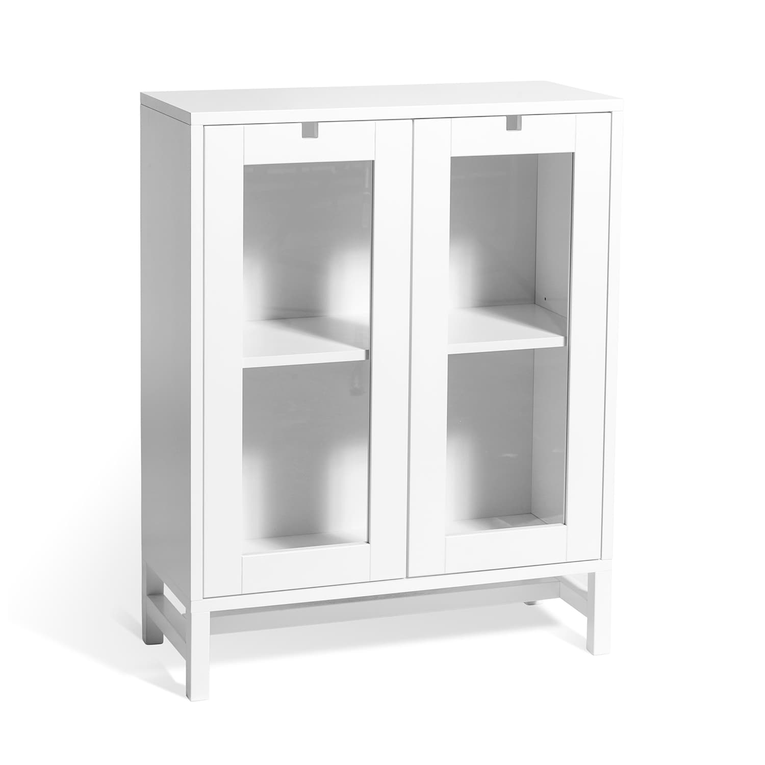 Falsterbo Cabinet Glass Doors 90 Cm White Lacquer Mavis