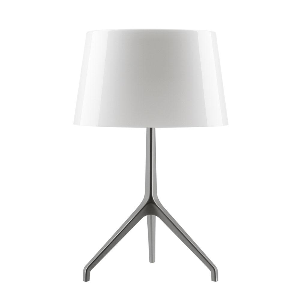 Lumiere Tischleuchte XXL Schwarz Chrom/Weiß