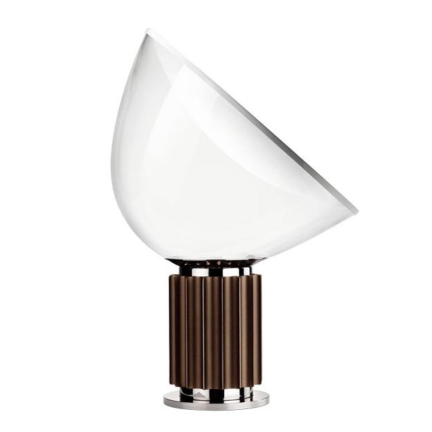 Taccia LED Tischleuchte Bronse/Weiss