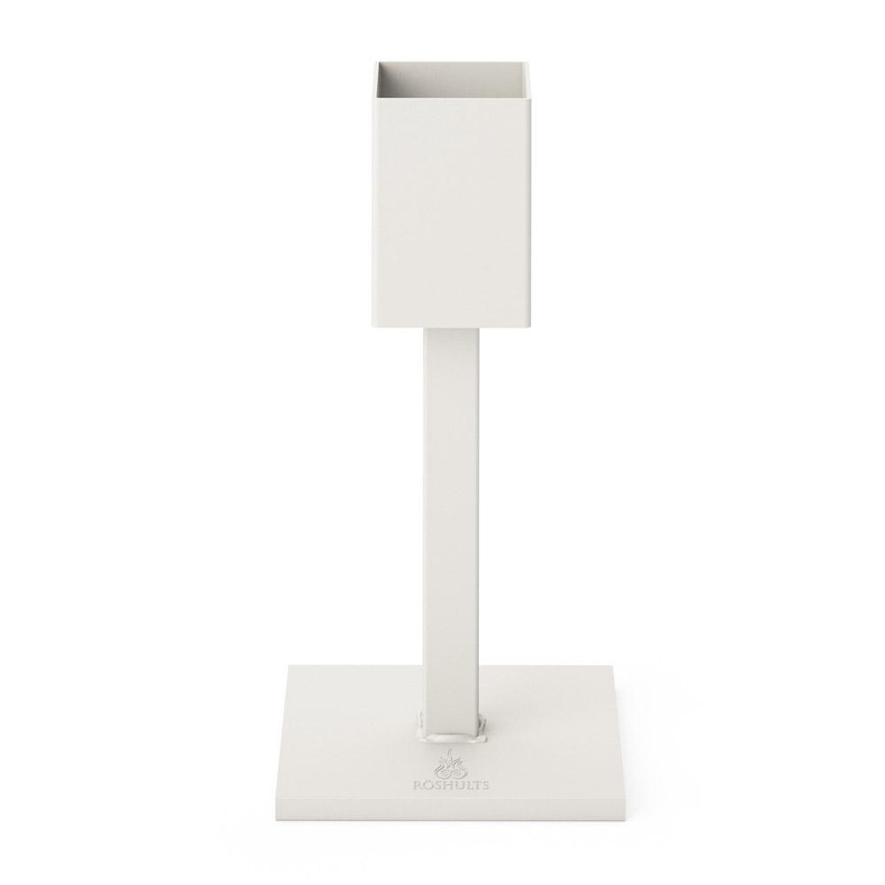 Art Kerzenhälter im Eisen 30 cm Weiss