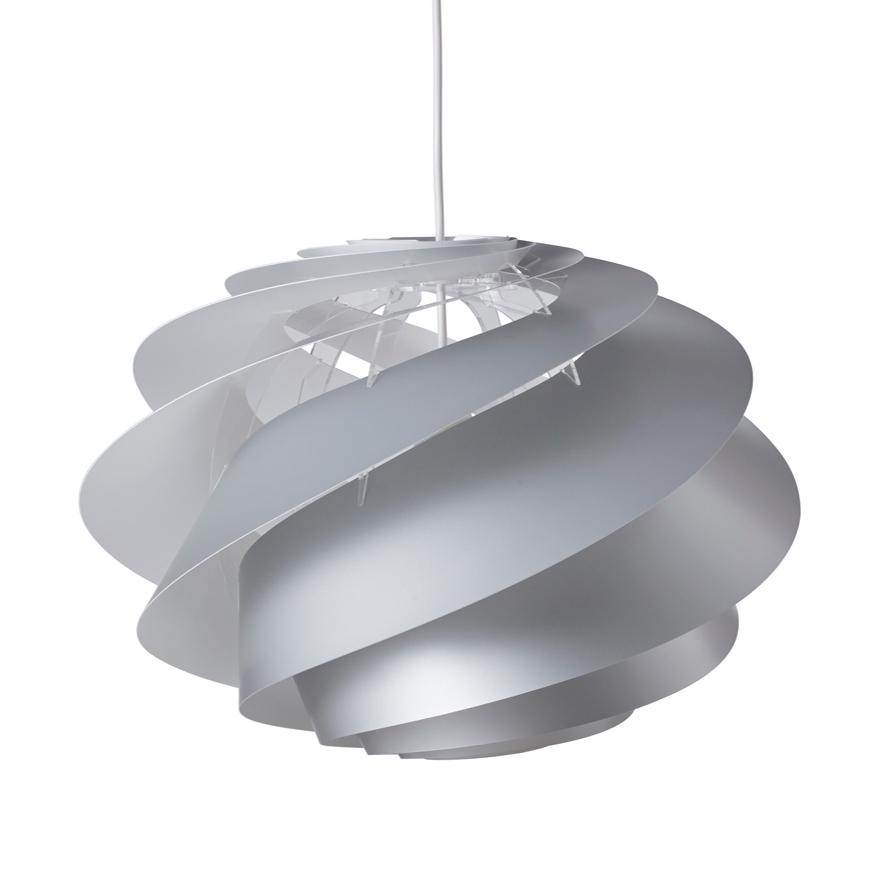 Swirl 1 Deckenleuchte Medium Silber