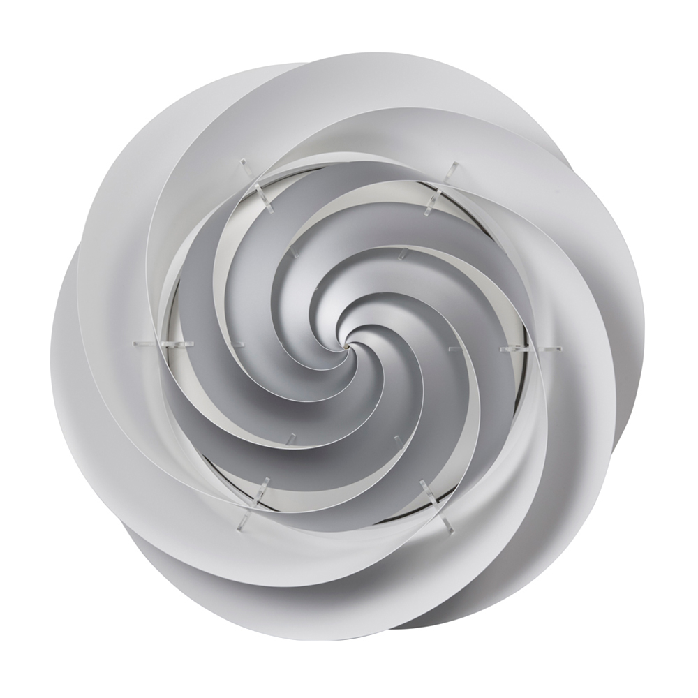 Swirl Decken/Wandleuchte Medium Silber