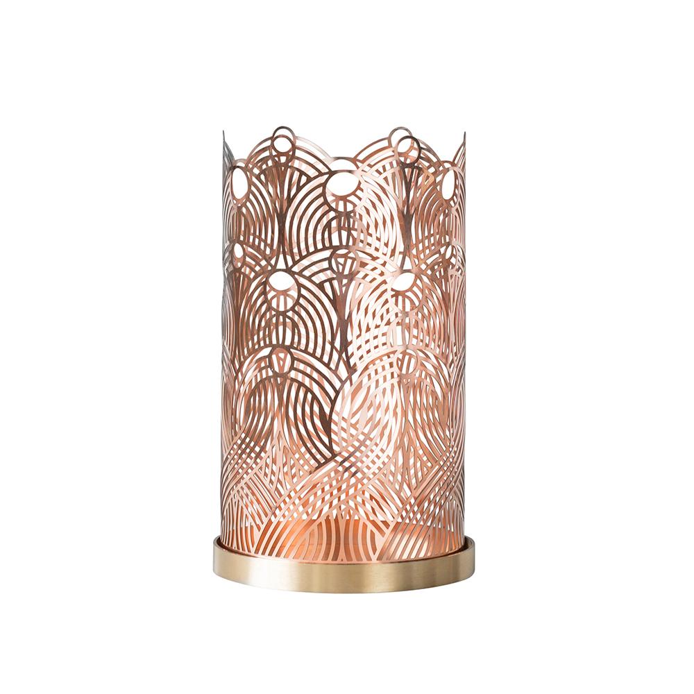 Lunar Teelichthalter L Kupfer