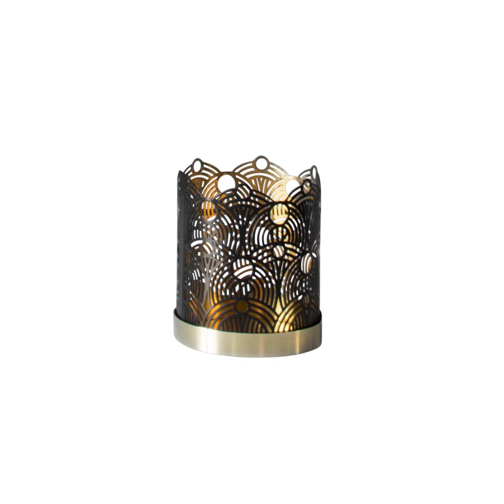 Lunar Kerzenständer S H7cm Schwarz