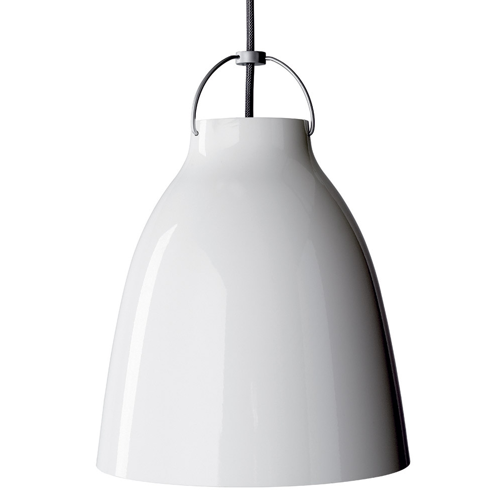 Caravaggio Deckenleuchte P1 6m Kabel Weiß