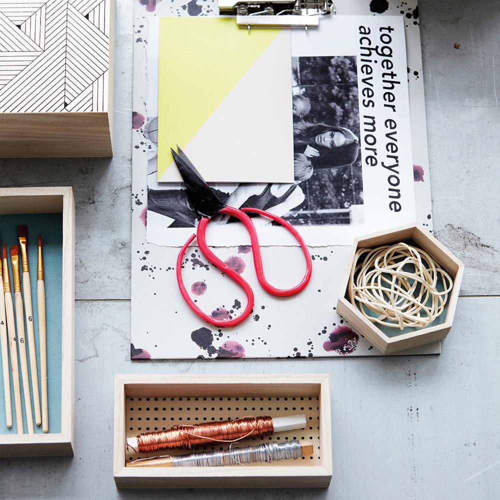 hexagonal tablett 4er pack house doctor. Black Bedroom Furniture Sets. Home Design Ideas