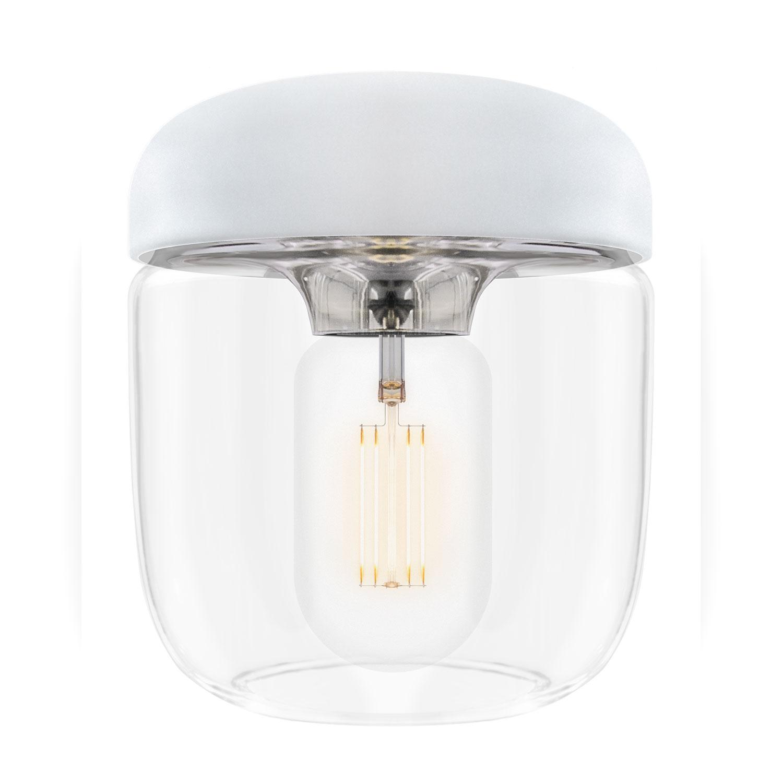 Acorn Lampe Weiss/Stahl