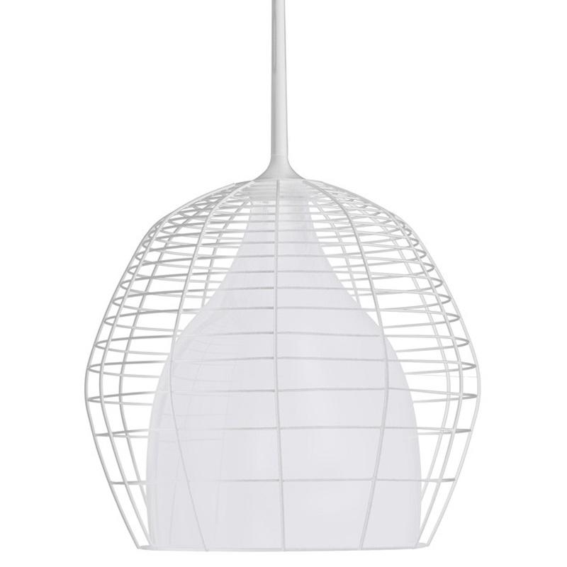 Cage Deckenleuchte 69 cm Weiss/Weiss