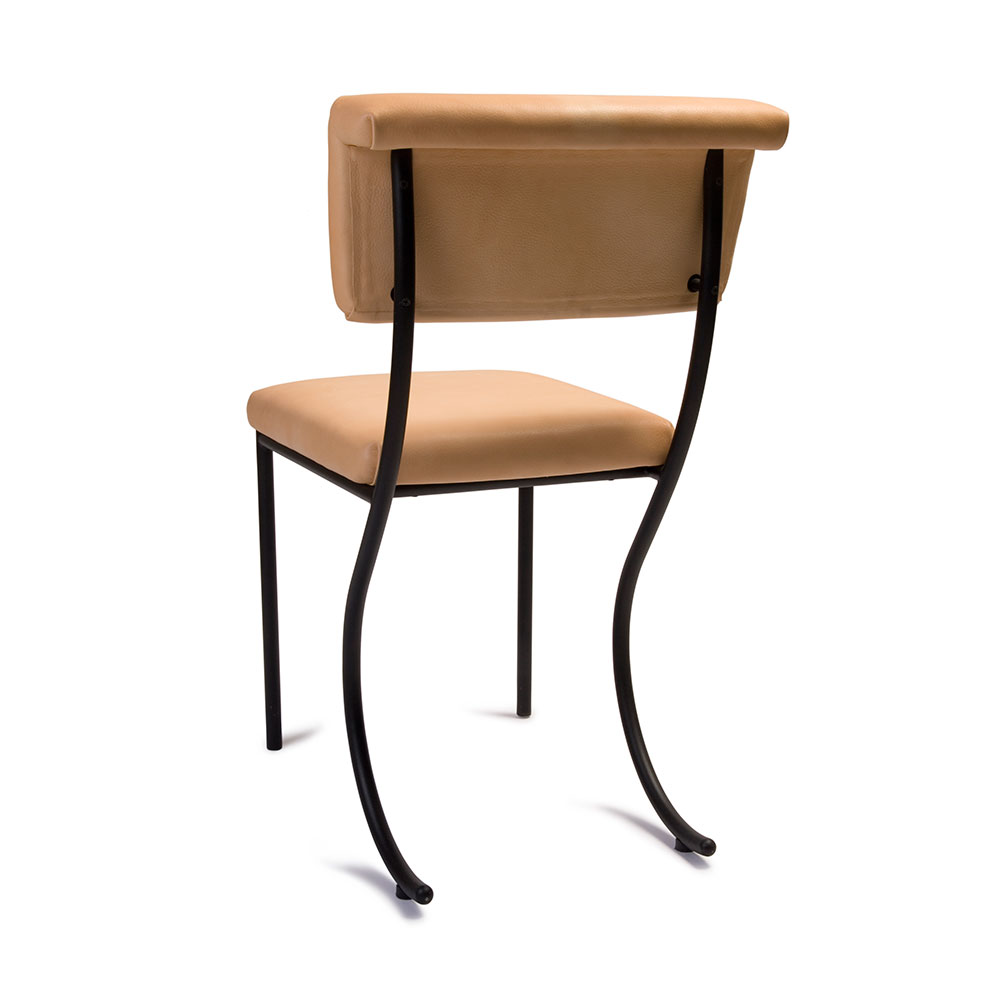 tivoli stuhl leder in schwarz natur von klong online kaufen hublery. Black Bedroom Furniture Sets. Home Design Ideas