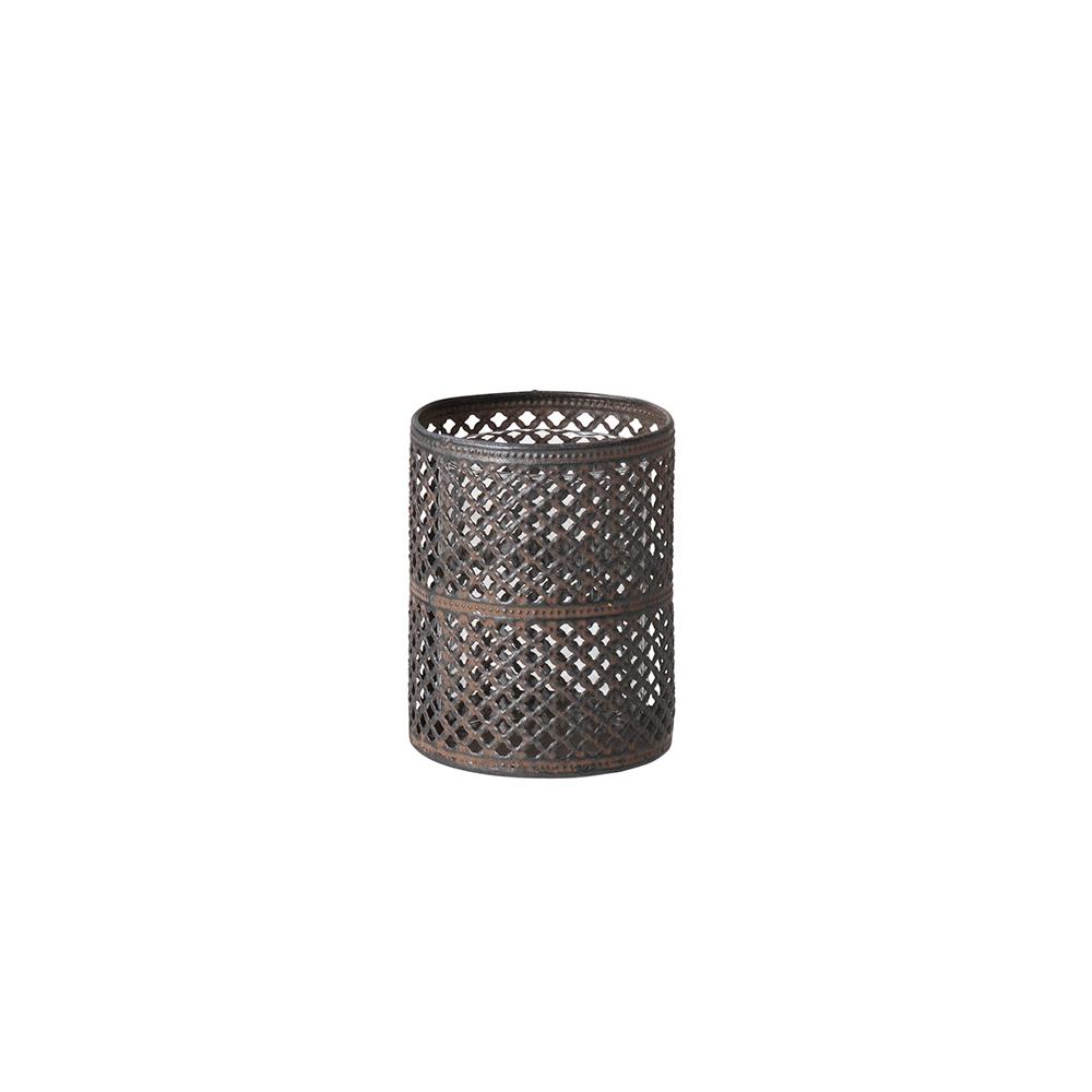 Alan Teelichthalter 9,5 cm Smoked Pearl