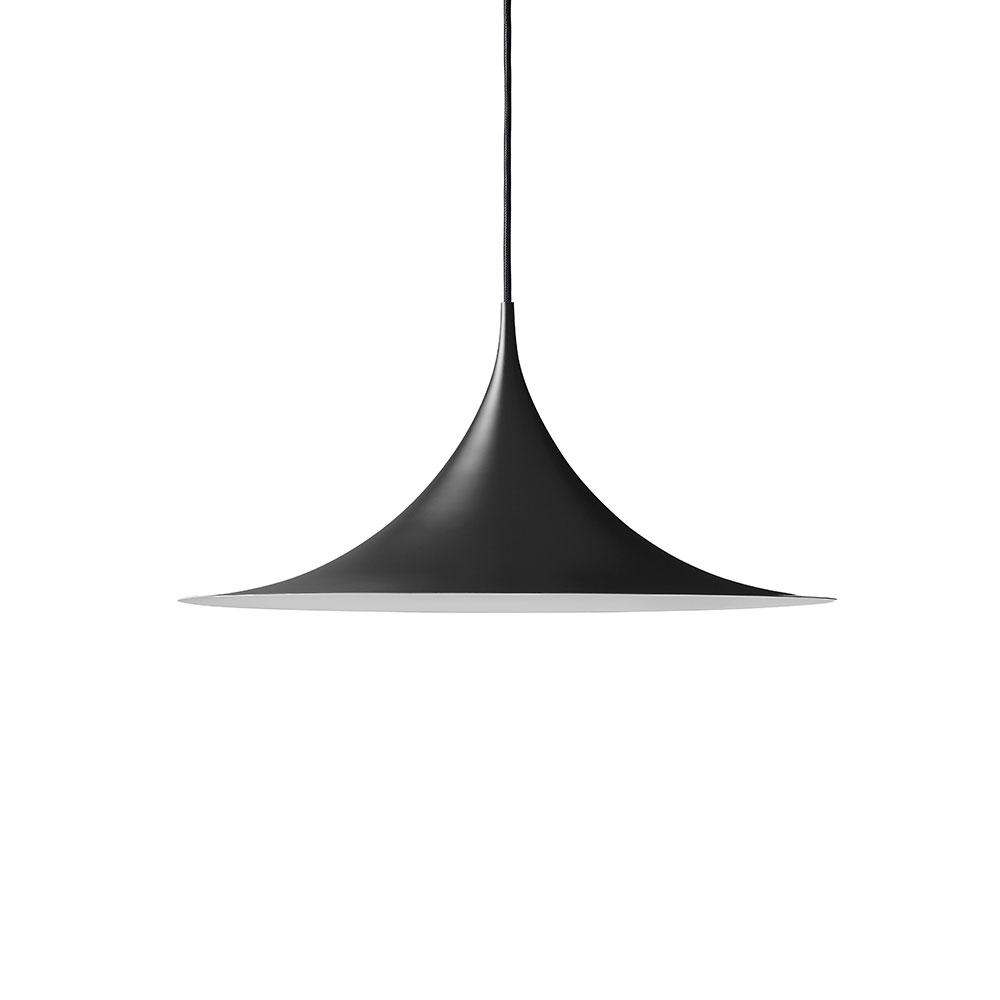 Semi Deckenleuchte ø60cm Schwarz