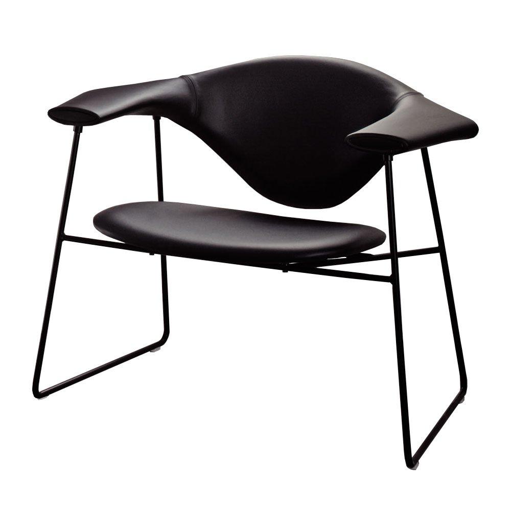 masculo lounge chair in savanne schwarz von gubi online. Black Bedroom Furniture Sets. Home Design Ideas