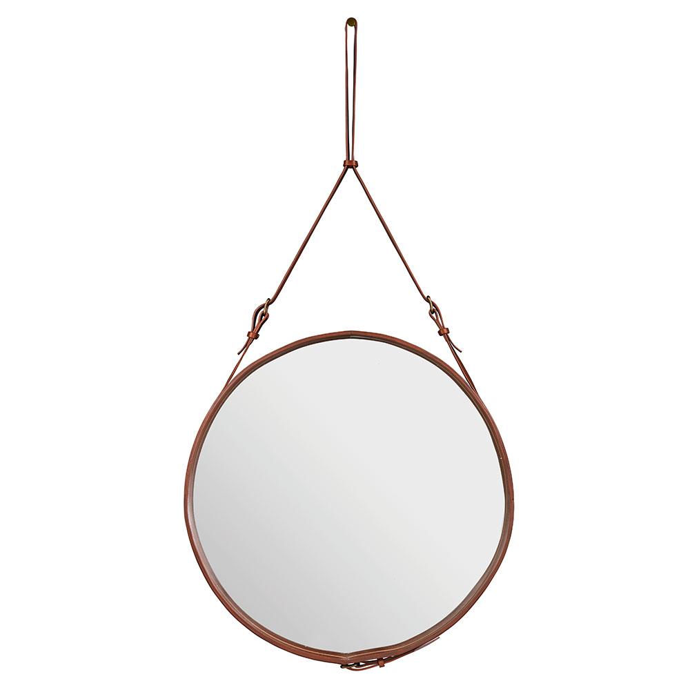 adnet spiegel rund 70 cm in braun von gubi online kaufen hublery. Black Bedroom Furniture Sets. Home Design Ideas