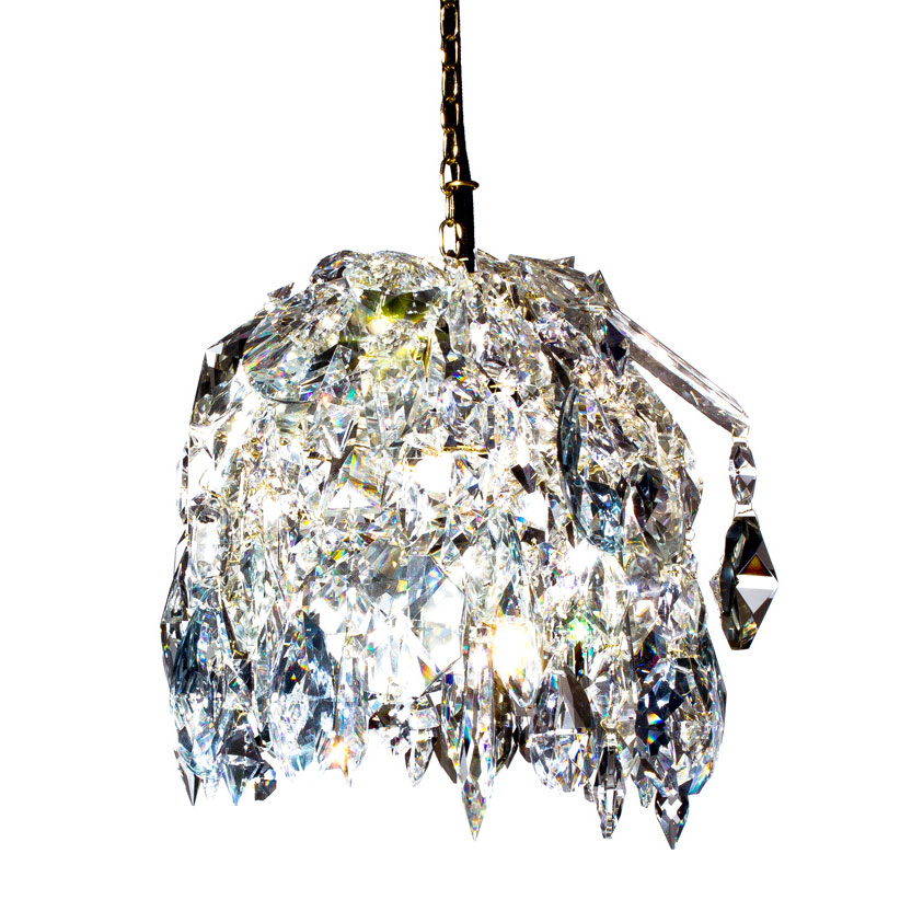 Kronleuchter Crystal Pendant 487 Messing