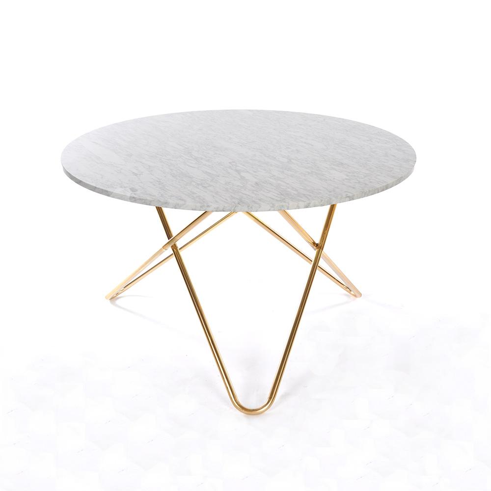 Big o tisch in wei von ox denmarq online kaufen hublery for Esstisch marmorplatte