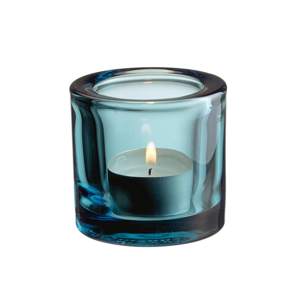 Kivi Teelichthalter 6 cm Seeblau